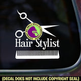 HAIR STYLIST Hairdresser Shears Comb Vinyl Decal Sticker