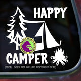 HAPPY CAMPER Vinyl Decal Sticker