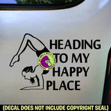 HEADING TO MY HAPPY PLACE Yoga Vinyl Decal Sticker