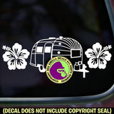 HIBISCUS Airstream Vinyl Decal Sticker