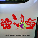 HIBISCUS CHICKEN Vinyl Decal Sticker