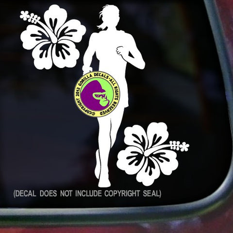 HIBISCUS FEMALE Runner Vinyl Decal Sticker
