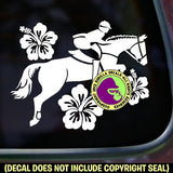 HIBISCUS Hunter Jumper #2 Vinyl Decal Sticker