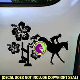 HIBISCUS LANDING JUMP Hunter Jumper Vinyl Decal Sticker
