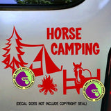 HORSE CAMPING Vinyl Decal Sticker