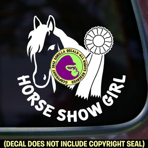 HORSE SHOW GIRL 1st Place Ribbon Vinyl Decal Sticker