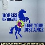 LARGE HORSE TRAILER SIGN Rearing Horse On Board Caution Trailer Vinyl Decal Sticker