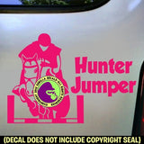 Front View HUNTER JUMPER Vinyl Decal Sticker