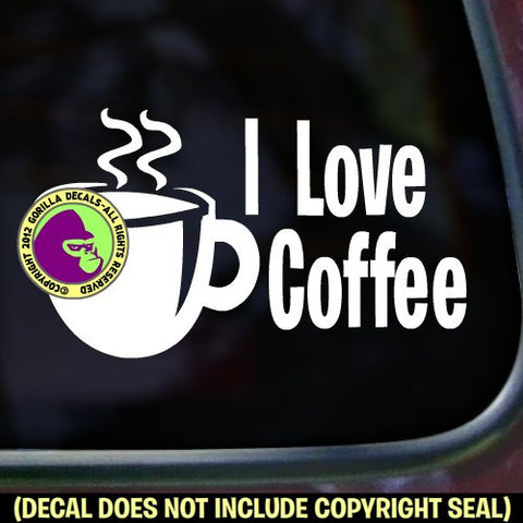 Coffee - I LOVE Vinyl Decal Sticker