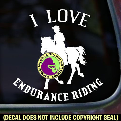 Endurance - I LOVE ENDURANCE RIDING Vinyl Decal Sticker