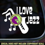 I LOVE JAZZ Vinyl Decal Sticker