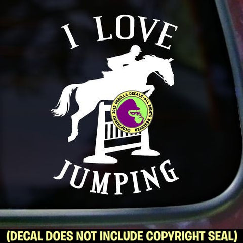 I LOVE JUMPING Hunter Jumper Vinyl Decal Sticker