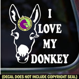 I LOVE MY DONKEY Burro Mule Mini Love Vinyl Decal Sticker