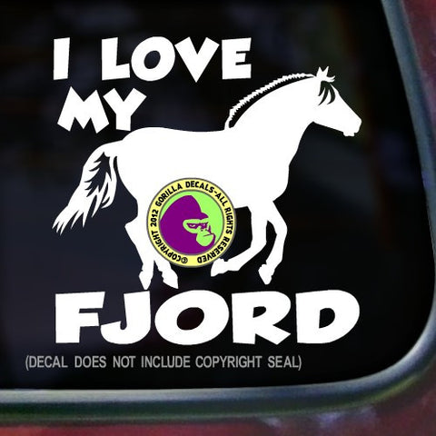 FJORD HORSES - I LOVE MY FJORD Vinyl Decal Sticker
