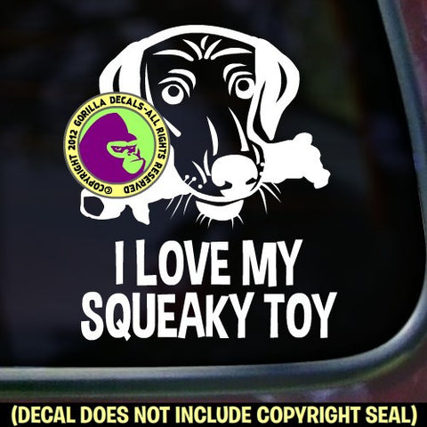 I LOVE SQUEAKY TOY Dog Vinyl Decal Sticker