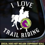 I LOVE TRAIL RIDING Horse Rider Vinyl Decal Sticker