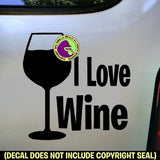 Wine - I LOVE WINE Vinyl Decal Sticker