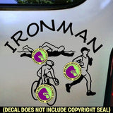 Triathalon - IRONMAN Vinyl Decal Sticker