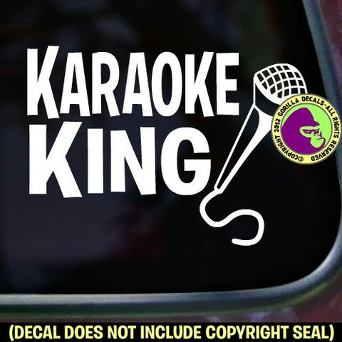 KARAOKE KING Vinyl Decal Sticker
