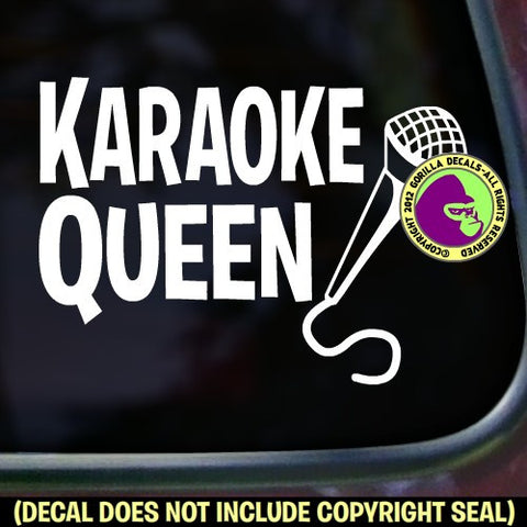 KARAOKE QUEEN Vinyl Decal Sticker