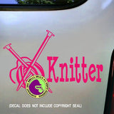 KNITTER Knit Knitting Vinyl Decal Sticker
