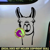 Llama Face Vinyl Decal Sticker