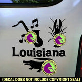 LOUISIANA STATE Vinyl Decal Sticker