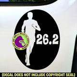 RUNNER MALE 26.2 Marathon Running Vinyl Decal Sticker