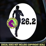 RUNNER FEMALE 26.2 Marathon Running Vinyl Decal Sticker