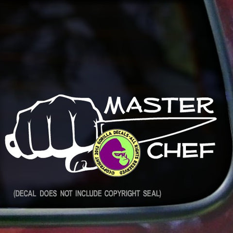 MASTER CHEF Vinyl Decal Sticker