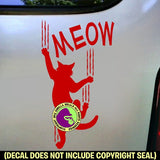MEOW Cat Vinyl Decal Sticker