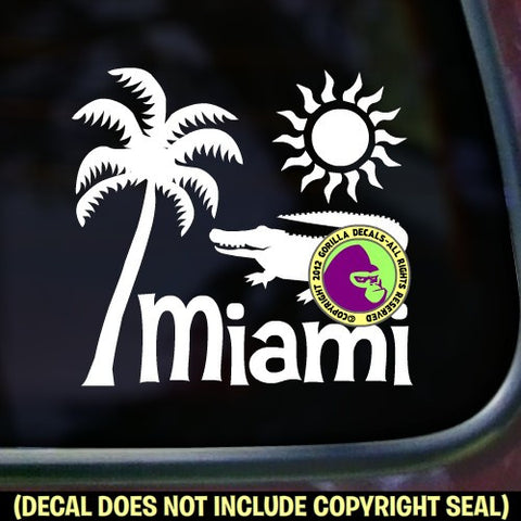 Florida State - MIAMI Vinyl Decal Sticker