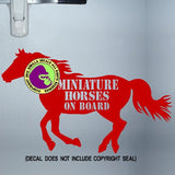 MINIATURE HORSES ON BOARD Body Trailer Vinyl Decal Sticker