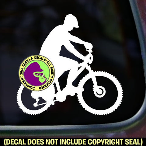 Mountain Bike Biking Vinyl Decal Sticker