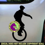 Unicycle Unicycling Vinyl Decal Sticker