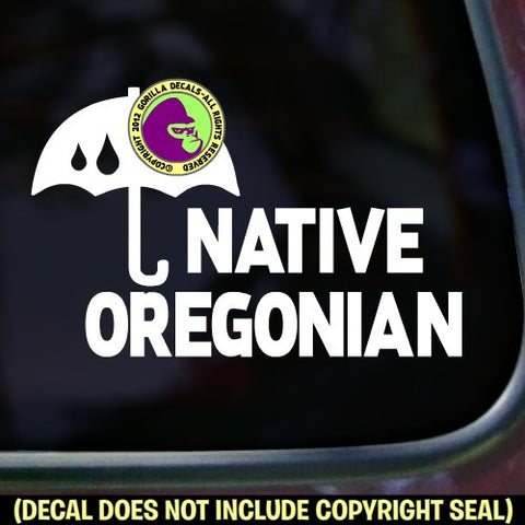 Oregon State - NATIVE OREGONIAN Vinyl Decal Sticker