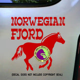 FJORD HORSES - NORWEGIAN FJORD Vinyl Decal Sticker