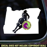 OREGON STATE Barrel Racing Vinyl Decal Sticker