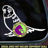 Budgie Parakeet Vinyl Decal Sticker