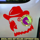 Parrot with Cowboy Hat Vinyl Decal Sticker