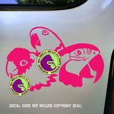 PARROT - 3 PARROTS Vinyl Decal Sticker