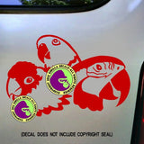 3 PARROTS Vinyl Decal Sticker