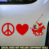PEACE LOVE POLO Player Vinyl Decal Sticker