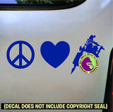 PEACE LOVE TATTOO Vinyl Decal Sticker