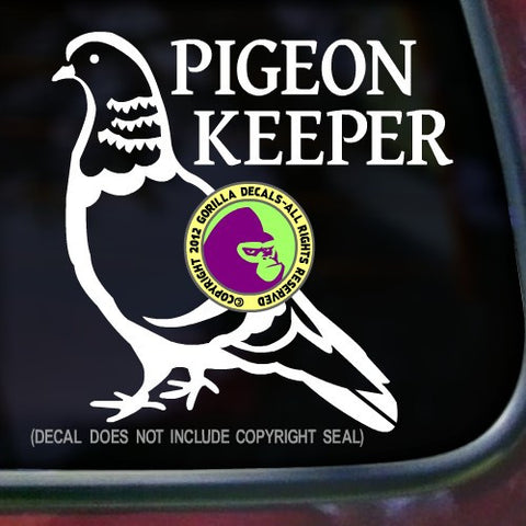 PIGEON KEEPER Vinyl Decal Sticker