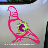 Pigeon Vinyl Decal Sticker
