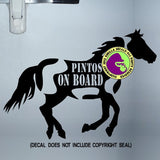 PINTO HORSES - PINTOS ON BOARD Body Trailer Vinyl Decal Sticker