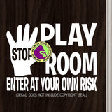 PLAY ROOM Vinyl Decal Sticker