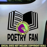 POETRY FAN Vinyl Decal Sticker