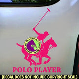 POLO PLAYER Vinyl Decal Sticker